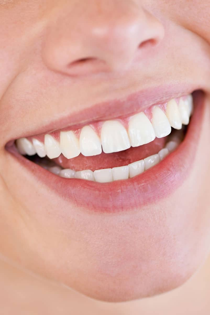 close up of mouth smiling